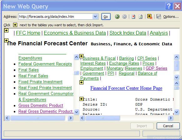 ورود اطلاعات از صفحه وب به اکسل