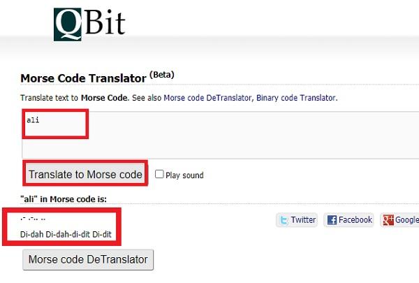 تبدیل اسم به کد مورس