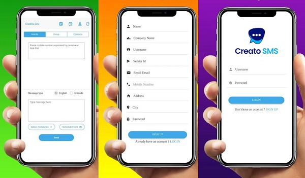ارسال پیامک گروهی در Android