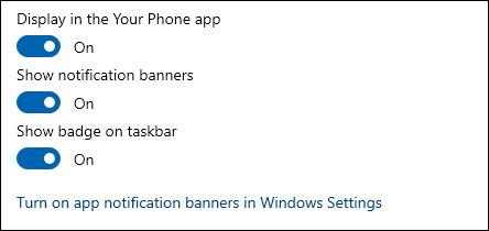 اعلان های گوشی اندروید در ویندوز 10