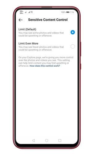 از ظاهر شدن پست های حساس در Explorer اینستاگرام جلوگیری کنید