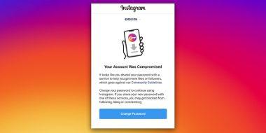 حل مشکل پیغام Your Account was Compromised اینستاگرام