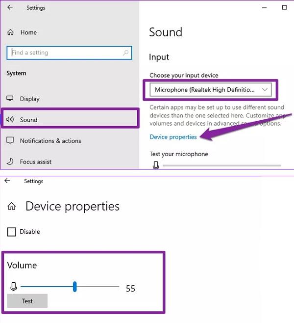 مشکل ورودی Google Voice