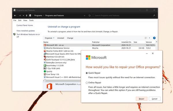 مشکل در جستجو در Outlook