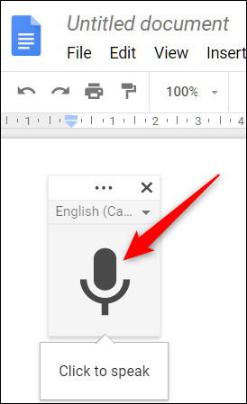 نحوه استفاده از ورودی صوتی Google Docs