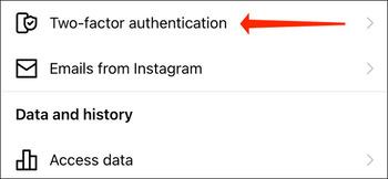 آموزش تأیید دو مرحله ای اینستاگرام در نسخه جدید