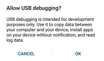 اشکال زدایی USB را فعال کنید