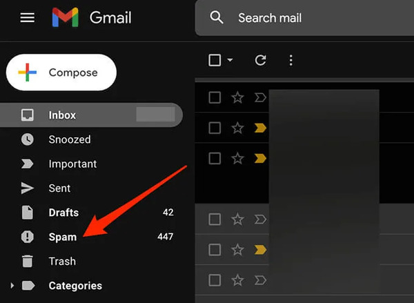 مشکل دریافت نکردن ایمیل در جیمیل