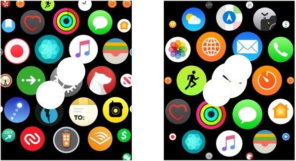 روی Apple Watch بزرگنمایی کنید