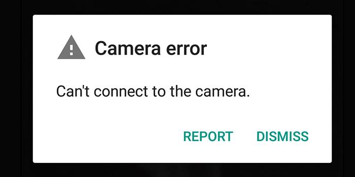 آموزش روش حل مشکل ارور Can't connect to camera دوربین گوشی