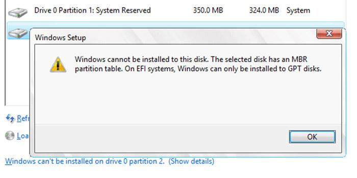 آموزش 4 روش رفع ارور Windows Cannot Be Installed to This Disk