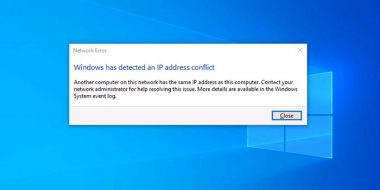 7 روش حل مشکل پیغام Windows has detected an IP address conflict ویندوز