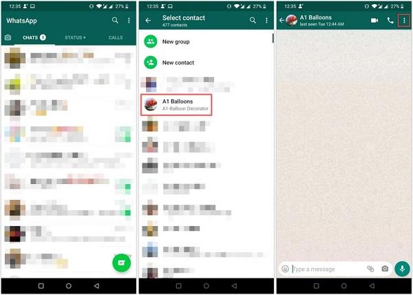ریپورت مخاطب در واتساپ