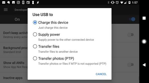 نحوه اتصال گوشی به ویندوز 10 با کابل