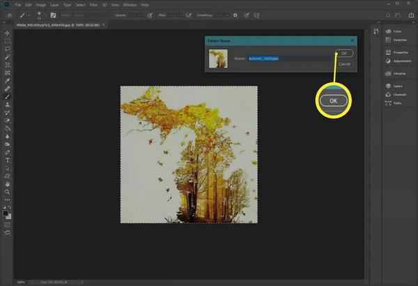 تکرار الگو در فتوشاپ با استفاده از عکس