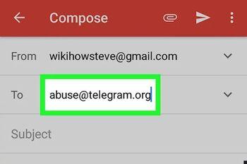 نحوه ریپورت تلگرام