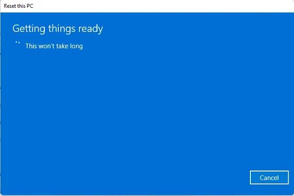 برگرداندن ویندوز 11 به تنظیمات اولیه