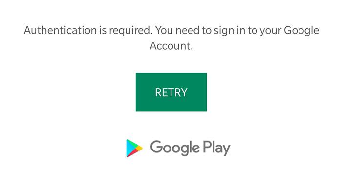 آموزش 8 روش رفع ارور Google Play Authentication is Required