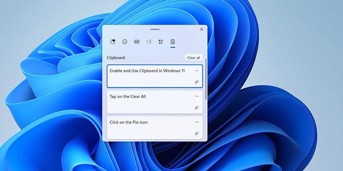 آموزش استفاده از کلیپ بورد ویندوز 11