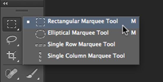 ابزار Rectangle Marquee