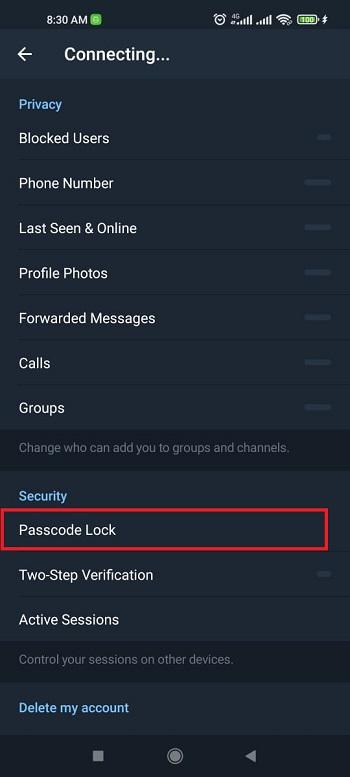 جلوگیری از هک تلگرام با قرار دادن رمز محلی برای تلگرام